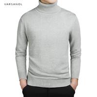 Varsanol Marka Yeni Rahat Balıkçı Yaka Kazak Erkekler Kazaklar Sonbahar Moda Stil Kazak Katı Slim Fit Triko Tam Kollu Coat S917