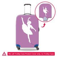 Художественный багаж защитная крышка спандекс применяются к 18 20 22 24 26 28 30 дюймов чемодан защитная крышка с застежкой-молнией эластичные пылезащитные крышки