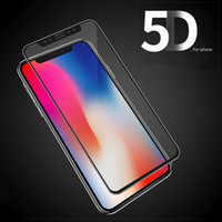 Pour iPhone X 10 Full Cover Film 5D Verre trempé Protecteur d'écran incurvé pour iPhone 8 Plus 9H Scratch 3D Soft Edge pour iPhone 7 6S 6 Plus