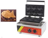 Бесплатная доставка 6 шт. японская рыба вафли коммерческого использования антипригарным 110 В/220 В электрический мороженое Taiyaki машина чайник пекарь железа LLFA