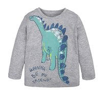 New Style Unisex Baby T- shirt Kids Long Sleeve Cartoon Dinos...
