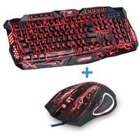 트라이 컬러 백라이트 컴퓨터 게임용 키보드 Teclado USB는 데스크톱 노트북 용 전체 N 키 게임 키보드를 제공합니다. 러시아어 스티커