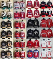 Vintage Washington Capitais 8 Alex Ovechkin 68 Jaromir Jarro 77 Oshie 37 Kolzig 12 Friesen 11 Gartner 32 Hunter Langway Maruk Hockey Jersey