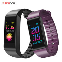 SOVO SE14 شاشة ملونة Smartband اللياقة الرياضية W6S سوار ذكي رصد معدل ضربات القلب ومراقبة ضغط الدم الفرقة الذكية عداد الخطى