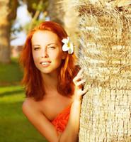 Kadın Kızlar Köpük Frangipani Yapay Plumeria Çiçek Yapraklı Cap Saç Çelenk Çiçek DIY Gelin Düğün Dekorasyon milleri