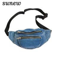 Denim Bag Belt Fanny Pack para mujeres bolso de la cintura del pecho bolsa  bolsa Belt 76fe39f65620