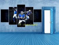 Football Players - 7, 5 Pieces Home Decor HD Printed Modern Ar...