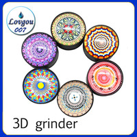 3D grinder Tobacco Smoking Herb Grinder 50mm 3 Layers Camouf...