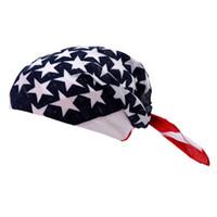 American Stars Unisex Stripes Copricapo USA Flag Stitching Bandana Band Band Decorazione Confortevole Forte Nuova Moda