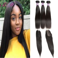 Cheap 8A Brazilian Virgin Hair Extensions Straight With 2*6 ...