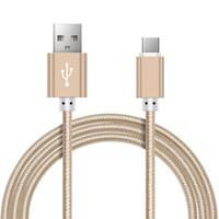 Cable micro USB de 25cm / 0.25M, cable de carga trenzado de nylon del cargador USB del teléfono móvil de Suntaiho 5V2.4A para Samsung / xiaomi / LG / Huawei / Meizu