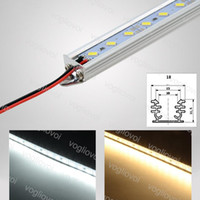 LED بار أضواء 18 واط SMD5730 1 متر DC12V 3000K 6500K 13000K دون غطاء الصعب مصباح الصلب لمعرض عرض مجلس الوزراء مخزن المجوهرات DHL