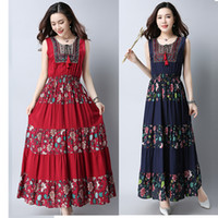Summer dresses Sleeveless women dress casual A- Line cotton a...