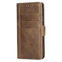 Skin Texture Leather Wallet Phone Case for iPhone X 6 7 8 Pl...