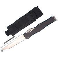 Auto faca tática D2 cetim tanto lâmina T6061 alumínio lidar com facas de presente de bolso EDC com saco de nylon