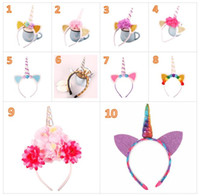 2017 New Baby Party Headbands Unicorn Gauze Flower Hair Band...