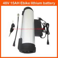 750W 48V 15AH 물병 배터리 48V 15AH 전기 자전거 리튬 이온 배터리 BMS 54.6V 2A 충전기와 3000mah 18650 셀 사용