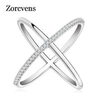ZORCVENS 최신 디자인 인피니티 링 36 조각 마이크로 포장 CZ 패션 여성 실버 컬러 반지 도매