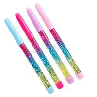Cute 0,5 mm Regenbogen Farbe Fairy Stick Drift Sand Glitter Kristall Kugelschreiber
