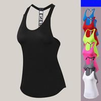 Venda quente Esporte Vest Mulheres Tanque Tops Ginásio Camisa Sem Mangas Esporte Esportes Top Mulher Correndo Sportwear Execução Vest