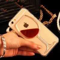 .Hot cassa del telefono trasparente di vetro del vino rosso copertura posteriore rigida per iPhone 5 5S SE 6 6S 7 8 Plus Custodia del telefono