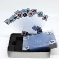 Şeffaf şeffaf Plastik PVC Poker Su Geçirmez Iskambil Kartları Yenilik Koleksiyonu Kartları Hediye Dayanıklı Texas Hold'Em Pokers