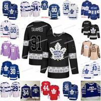 Nowy Sezon Toronto Maple Leafs Jersey 8 Connor Carrick 23 Travis Dermott 51 Jake Gardiner 2 Ron Hainsey 3 Justin Holl Hockey Koszulki