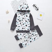 Baby Jungen Dreieck Hoodies + Pants Set Herbst 2018 Baby Boutique Kleidung 6-24m Kleinkinder Baumwolle Long Sleeves 2 PC Outfits
