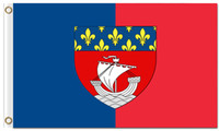 Hot Koop Franse Provincie van Parijs vlag met twee inkorten 100D Polyester California Republiek Goedkope vlaggen