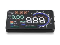 """Mais popular 5.5 """"carro HUD OBD2 cabeça para cima display car projetor HUD sistema de alarme auto ajuste de brilho"""
