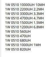 11valuesX10pcs = 110pcs 1W Induktivitätspaket 470UH bis 1.2MH 0510 Induktivitätskit