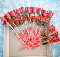 Valentine rote Rose Seife Blume romantische Bad Blume Seife für Freundin Hochzeit Gefälligkeiten Festliche Party Supplies