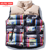 Aelfric Eden Male Vests Jackets Streetwear Hip Hop Overcoats...