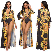 Costume-robe mode impression sexy cape + bikini fission costume de natation