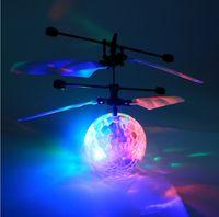 الصمام ماجيك تحلق الكرة الملونة المرحلة مصباح سحرية اللمس مروحية تحريض الأشعة يطير الكرة أطفال الأطفال rc لعبة لعيد الميلاد هدية العيد