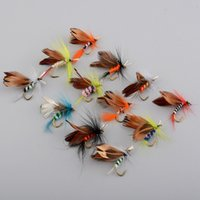 2018 New 12pcs set Fishing Lures Butter Fly Insects Differen...