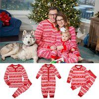 3b3a8f8ad6 Wholesale matching family pajamas online - Christmas Kids Adults Family  Matching Deer Snowflake Striped Pajamas Nightwear