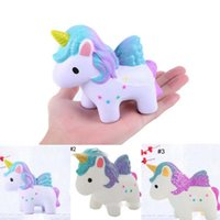 3 Styles Super Soft Squishy Slow Rising Unicorn Pony Toys Spremi squisiti giocattoli di decompressione