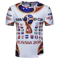 Time World Cup Men Top Clothes Commemorate Short T Shirt O-Collo Bandiera nazionale stampata Longlines maniche corte Tee Abbigliamento maschile