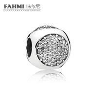 FAHMI 100% 925 Sterling Silver 1: 1 Originale 796214CZ Authentic Temperament Fashion Glamour Retro Bead Wedding Jewelry donna