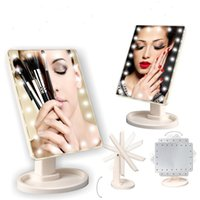 Adjustable Large 22 LED Lighted Makeup Mirror Touch Screen P...