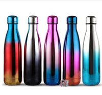 17oz 500ml Metallic UV Cola Bottle Water Cup Stainless Steel...