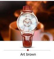 2018 nouvelle marque MARGUES montre à quartz pour les femmes vague d'eau symphonie cadran montres de mode casual slub modèle cuir bracelet horloge 033