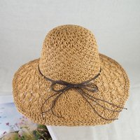 EPU- MH1807 Summer straw hat with memory- wire brim and sun UV...