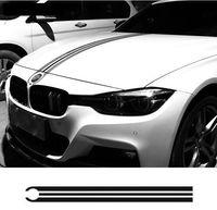 Araba Hood Bonnet Yarış Çizgili Çizgiler Çıkartmaları Motor Kapağı Çıkartmalar BMW e46 e36 e90 için f30 f31 f34 e39 e60 f10 f11 f07 g30