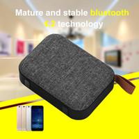 Tissu Bluetooth 4.2 Haut-parleur portable Sans fil Soundbar Récepteur Audio Mini Haut-parleurs AUX Pour IOS Android Pour Xiaomi