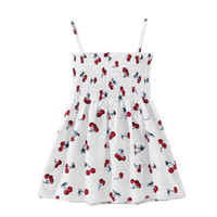 Vestido de niña Vestido de verano dulce Pecho Correa de espagueti Sin espalda Vestido Estampado floral Vestidos de playa Ropa de niña pequeña