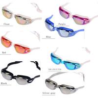 Mode 7 Farben Super Clear Silikon Schutzbrillen 100% UV Wasserdichte Schwimmbrille für Männer und Frauen Schwimmbrille.