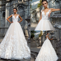 2018 Retro Vintage Lace Sleeveless A Line Wedding Dresses Mi...