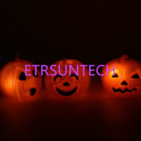 LED Gel Pumpkin Ball Halloween Props Decoración del partido Brillar en la oscuridad Pumpkin Ball Divertido juguete para QW7841 del cabrito